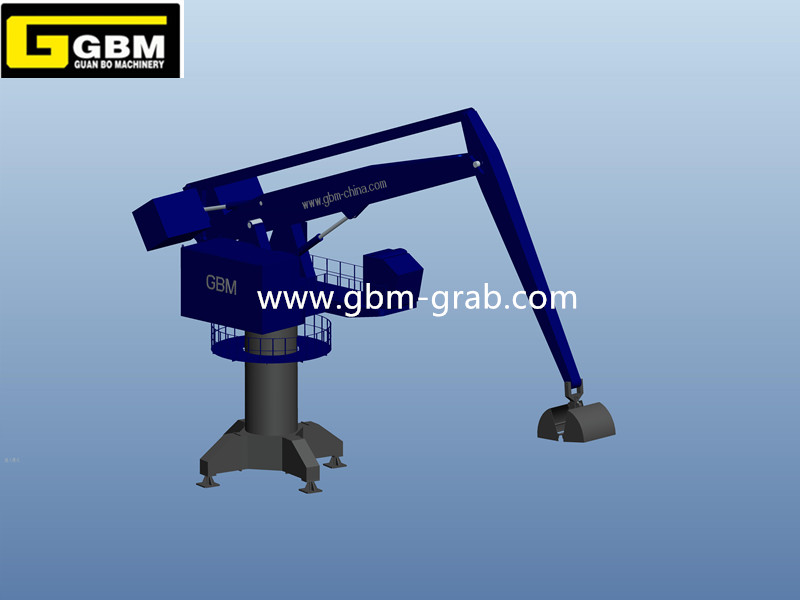 Hydraulic Balance Crane Fixed/Mobile with Grab/Hook Featured Image