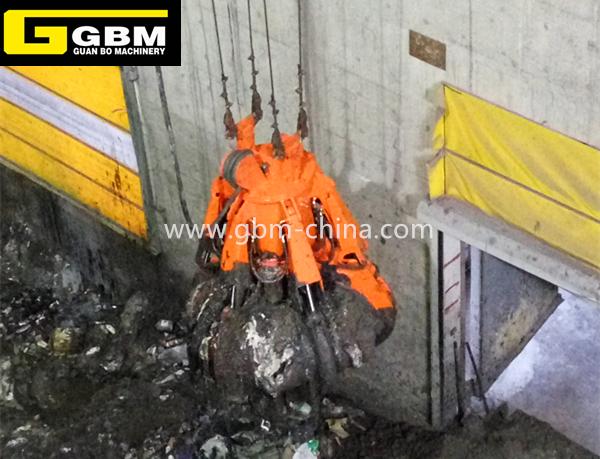 Cuchara hidráulica eléctrica de basura de residuos sólidos