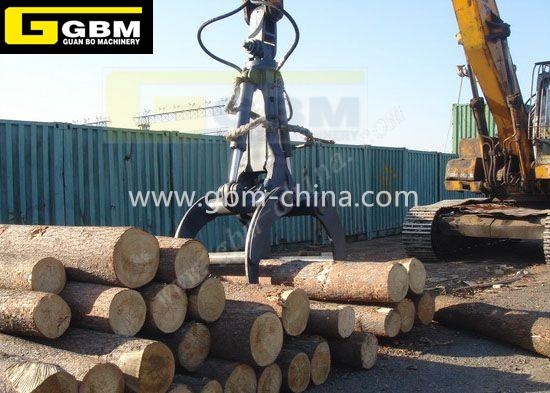 Escavadeira grab madeira hidráulico