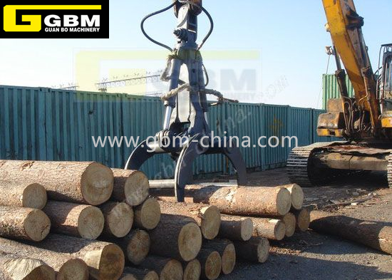 Excavator hydraulic timber grab