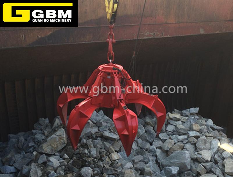 Electro-hydraulic orange peel grab (stone)