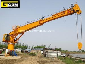 3T40M Telescopic boom marine cranes