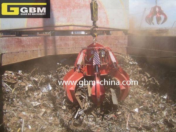 Electro-hydraulic orange peel grab (scrap)