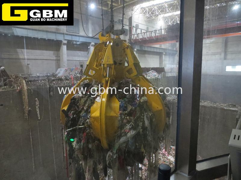 Eléctrica agarrar la basura de residuos hidráulica