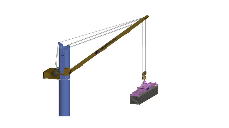 Crane&swivel spreader